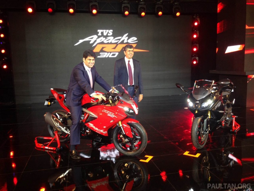 2018 TVS Apache RR 310 launched in India – based on BMW Motorrad G 310 R, 34 hp, full-fairing, RM12,939 Image #747856