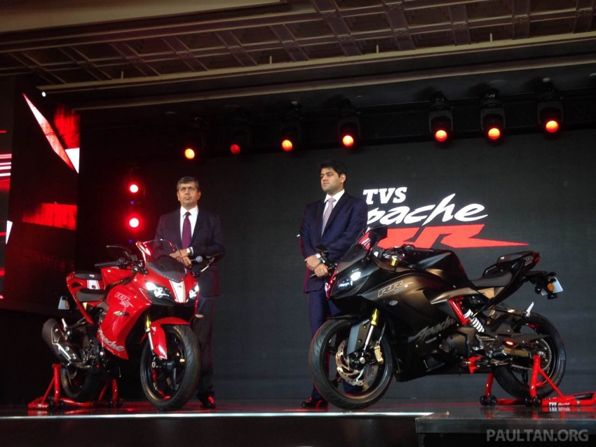 2018 TVS Apache RR 310 launched in India – based on BMW Motorrad G 310 R, 34 hp, full-fairing, RM12,939 Image #747858