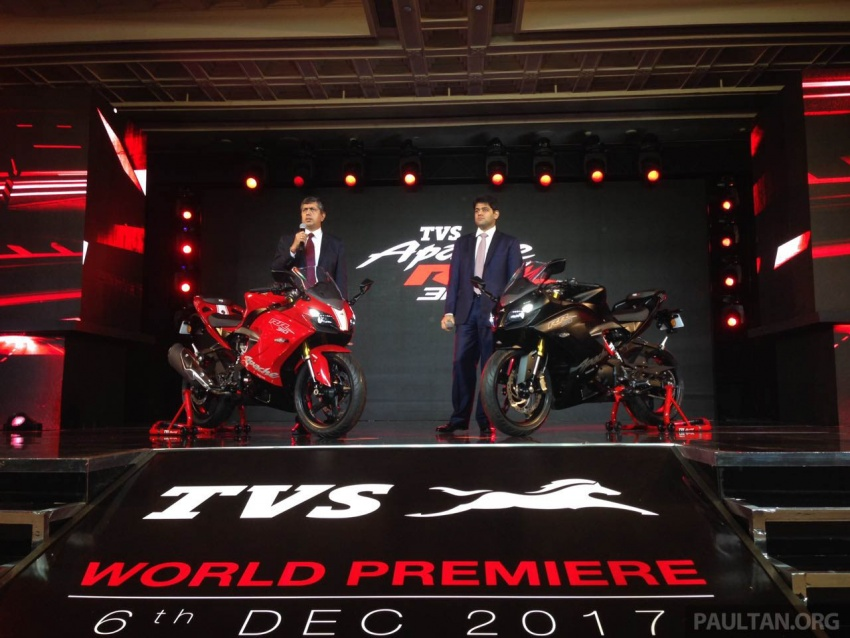 2018 TVS Apache RR 310 launched in India – based on BMW Motorrad G 310 R, 34 hp, full-fairing, RM12,939 Image #747860