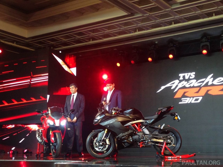 2018 TVS Apache RR 310 launched in India – based on BMW Motorrad G 310 R, 34 hp, full-fairing, RM12,939 Image #747861
