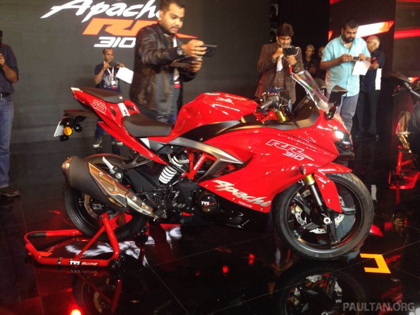 2018 TVS Apache RR 310 launched in India – based on BMW Motorrad G 310 R, 34 hp, full-fairing, RM12,939 Image #747845