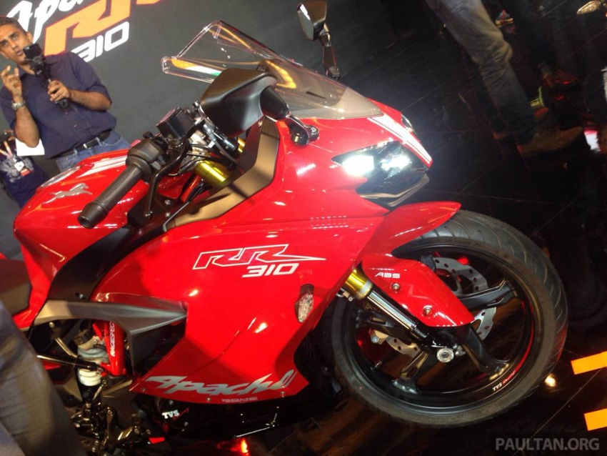 2018 TVS Apache RR 310 launched in India – based on BMW Motorrad G 310 R, 34 hp, full-fairing, RM12,939 Image #747851