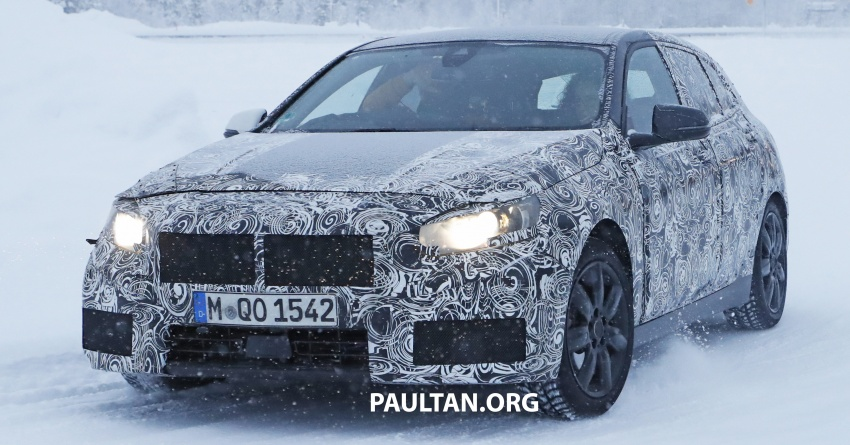 SPYSHOTS: BMW 1 Series goes testing out in the cold Image #754912