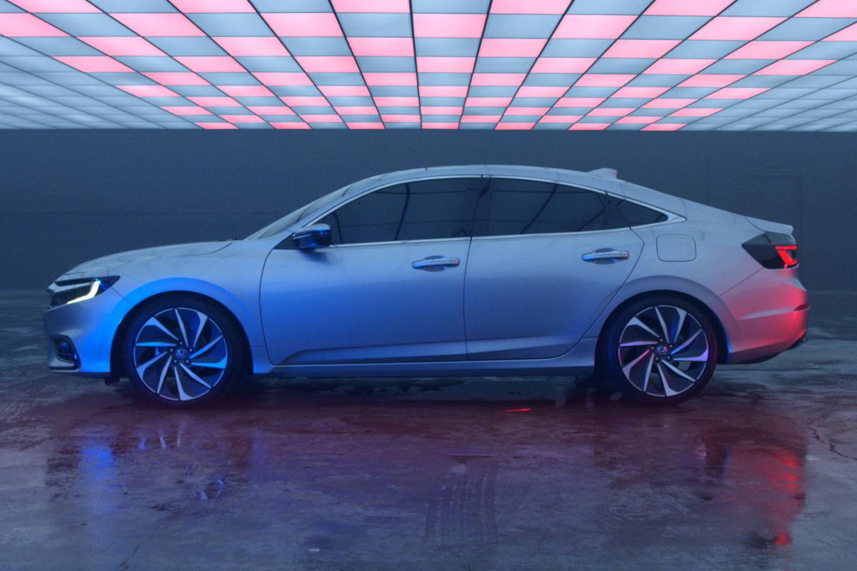 honda insight prototype revealed production hybrid sedan. Black Bedroom Furniture Sets. Home Design Ideas