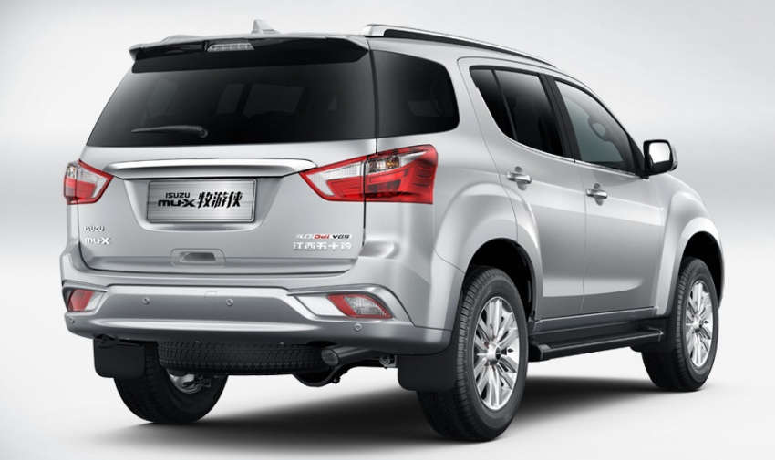 Isuzu MU-X facelift debuts in China with new interior Image #754263