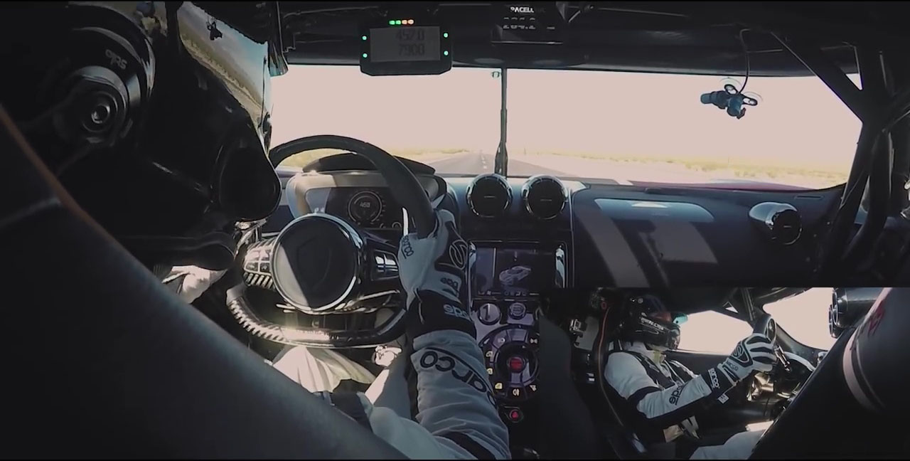 VIDEO: Koenigsegg Agera RS speed record attempt