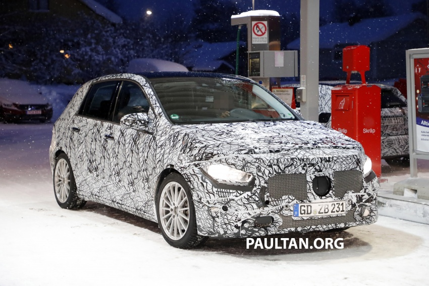 SPIED: Next-gen Mercedes-Benz B-Class seen again Image #749748