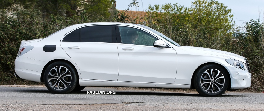 SPIED: Mercedes-Benz C-Class facelift loses camo Image #748539