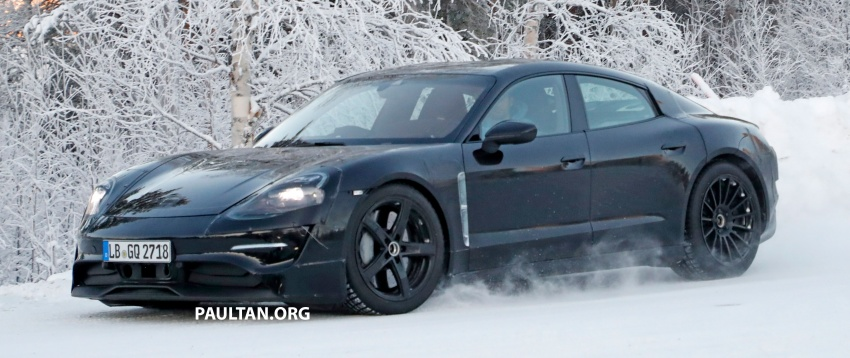 SPYSHOTS: Porsche Mission E goes winter testing Image #749069