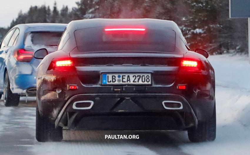 SPYSHOTS: Porsche Mission E goes winter testing Image #749080