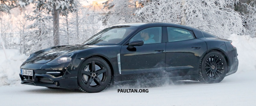 SPYSHOTS: Porsche Mission E goes winter testing Image #749070