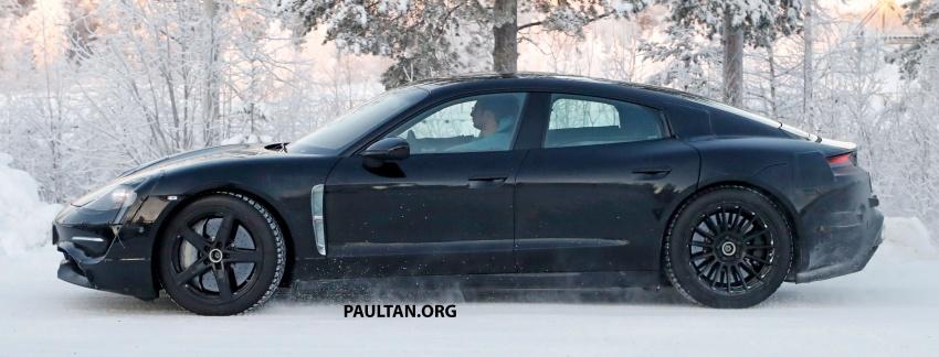 SPYSHOTS: Porsche Mission E goes winter testing Image #749073
