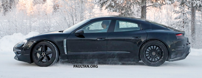 SPYSHOTS: Porsche Mission E goes winter testing Image #749074
