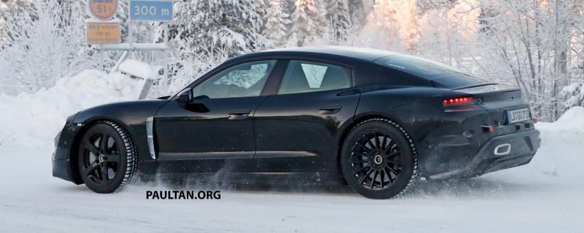 SPYSHOTS: Porsche Mission E goes winter testing Image #749075