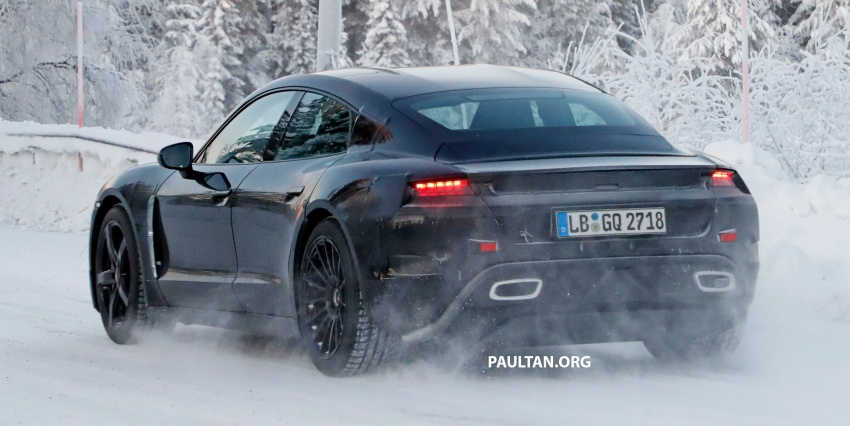SPYSHOTS: Porsche Mission E goes winter testing Image #749077