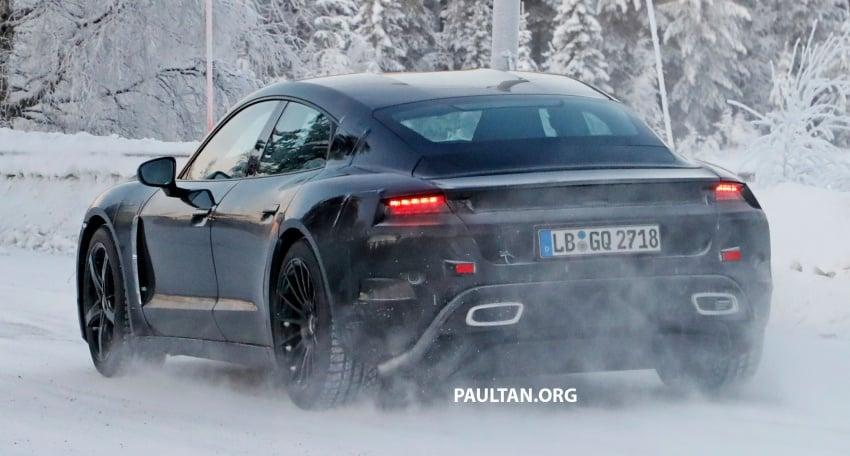 SPYSHOTS: Porsche Mission E goes winter testing Image #749078