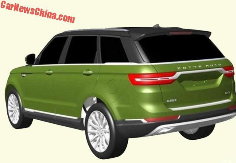 Range Rover Sport Back >> Zotye T800 patents reveal a Range Rover Sport copy Image 755219