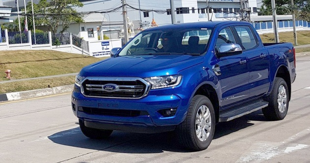 Spied 2018 Ford Ranger Facelift Spotted In Thailand