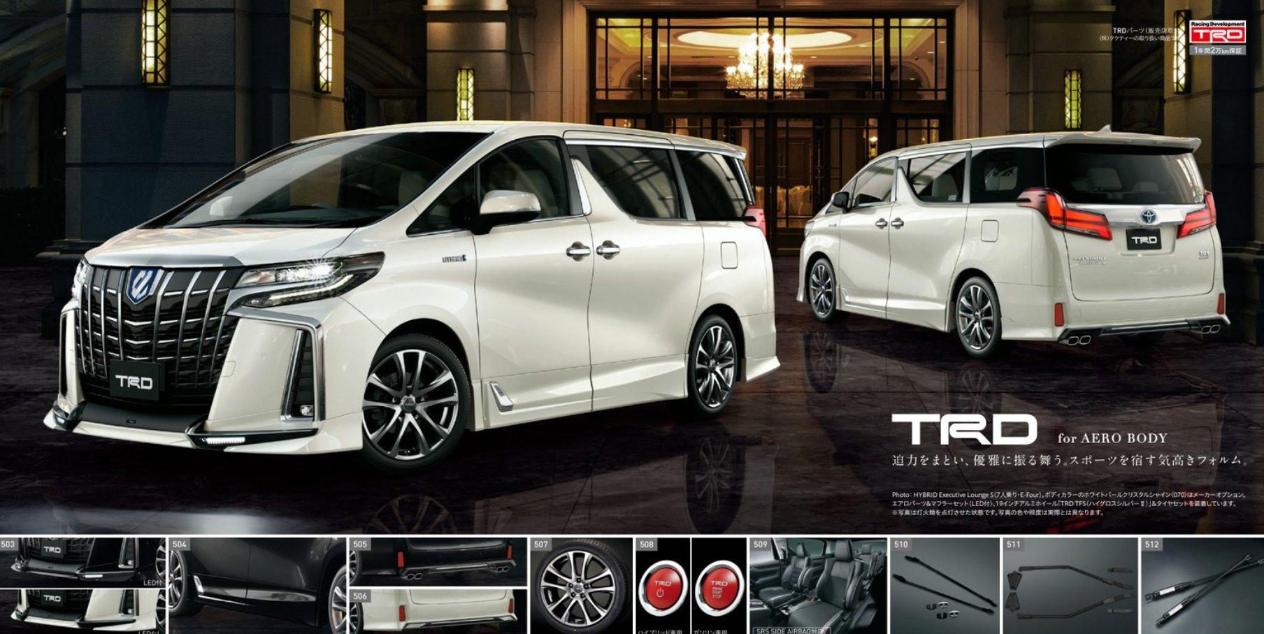 2018 Toyota Vellfire, Alphard – new Modellista, TRD kit ...