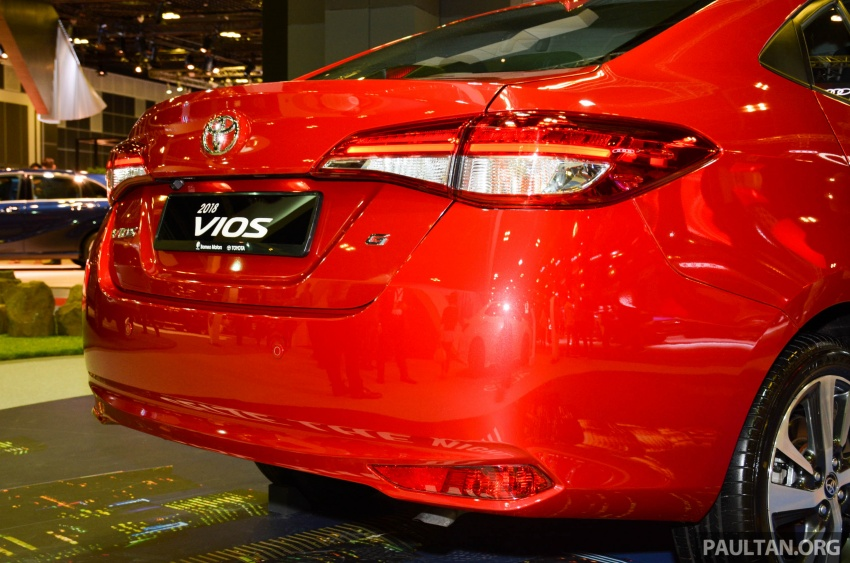 Toyota Vios generasi baharu di <em>Singapore Motor Show</em> 2018 – 1.5L Dual VVT-i, CVT, tujuh-beg udara dan VSC Image #760652