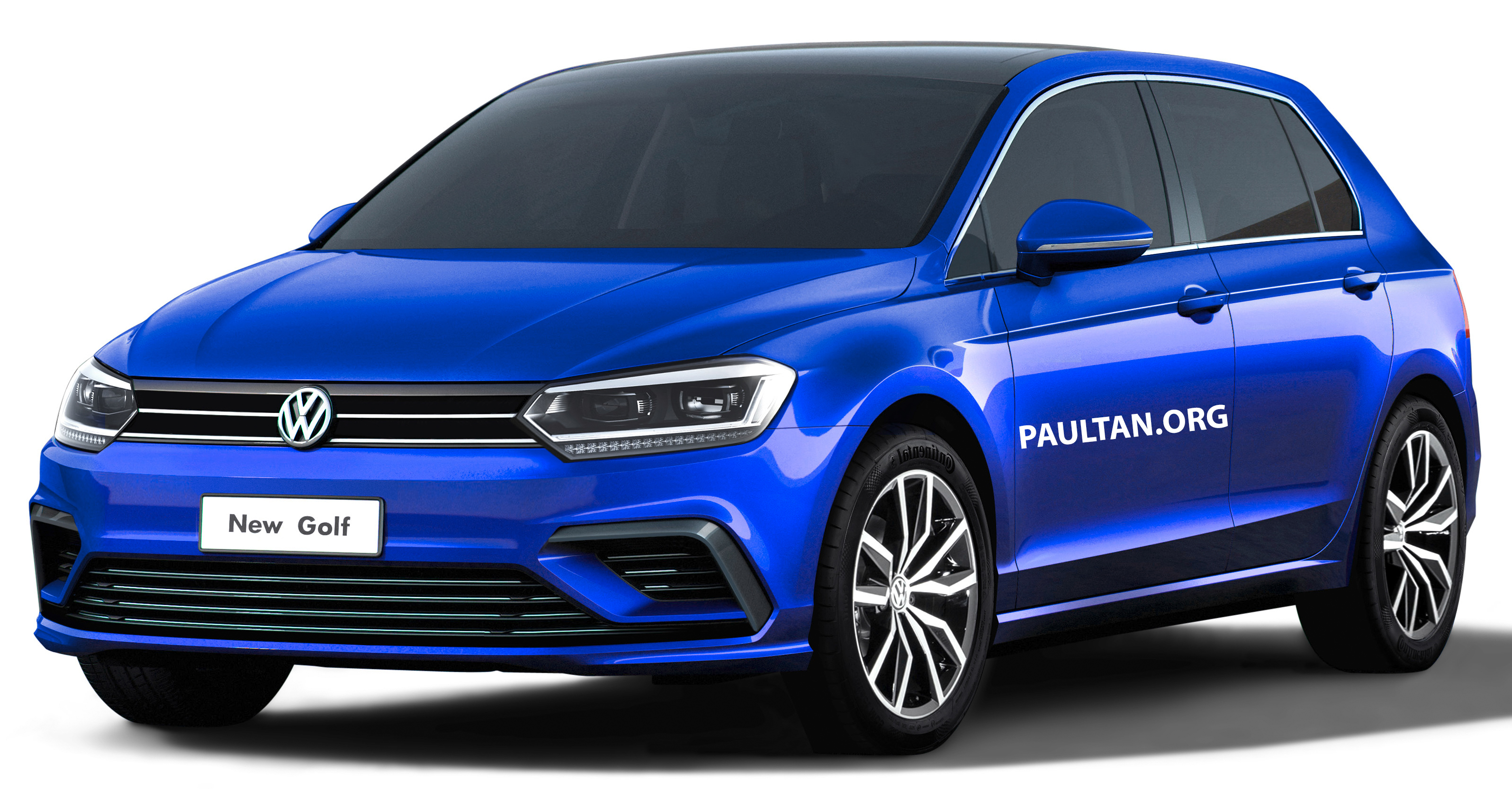 2019 Volkswagen Golf Mk8 Rendered With New Styling on 02 golf gti