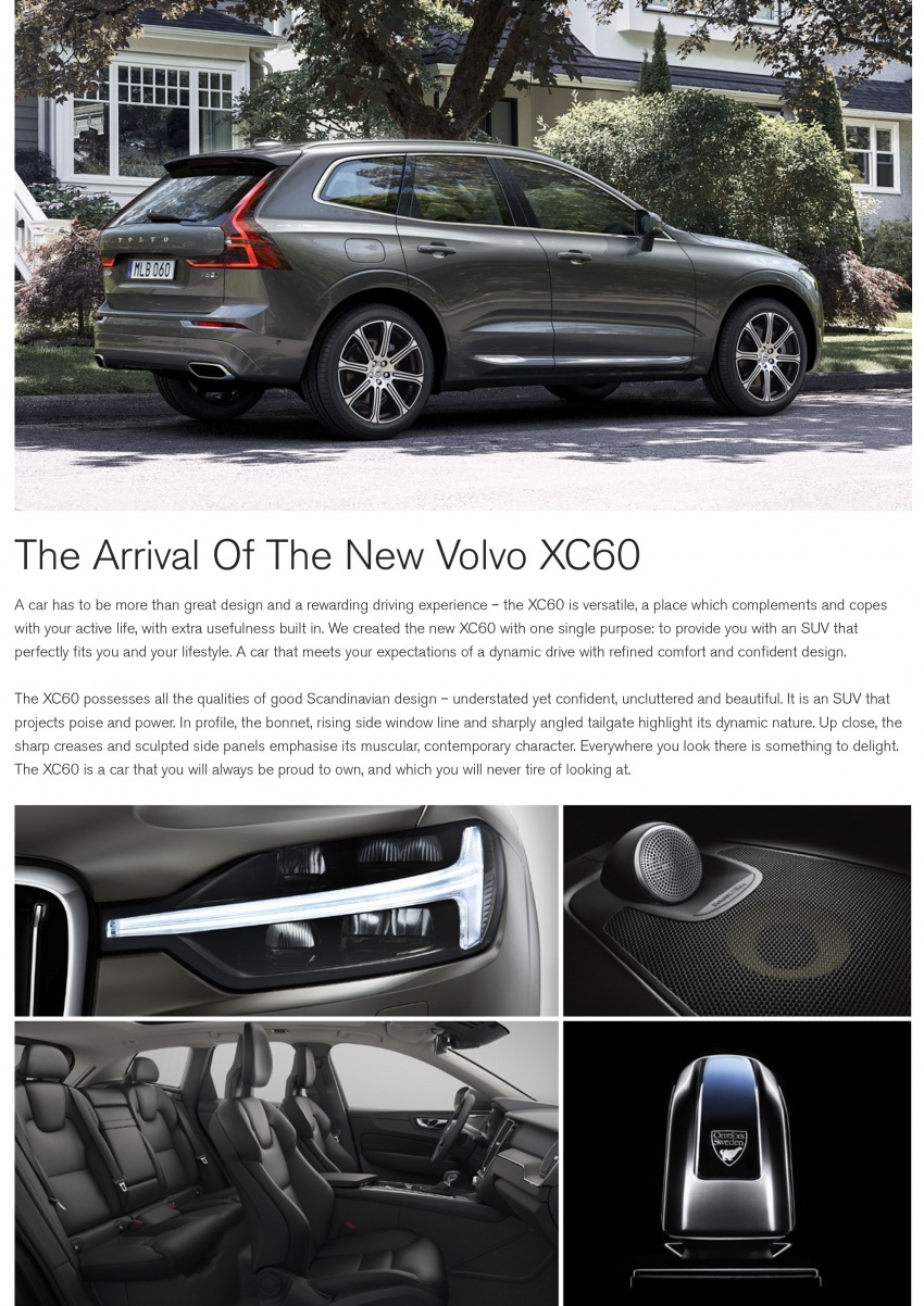 Volvo XC60 2018 dilancarkan di Malaysia – varian CKD dari RM299k, varian CBU tunggal pada harga RM374k Image #765558