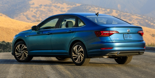 2019 volkswagen jetta officially unveiled in detroit down the sides there are scalloped sections between the wheels along with a prominent character line the line starts from the fender emblem used to publicscrutiny Gallery