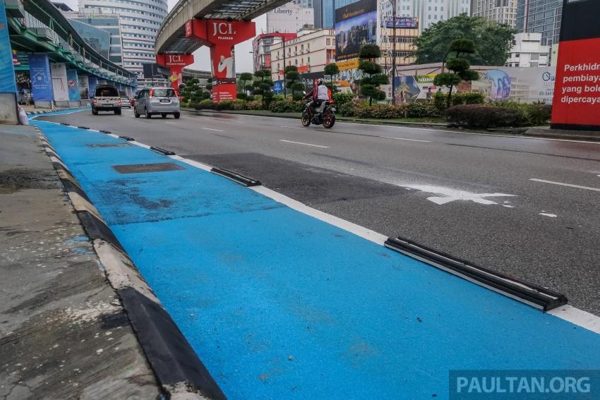 Pembahagi lorong khas basikal di KL undang bahaya? Image #768497
