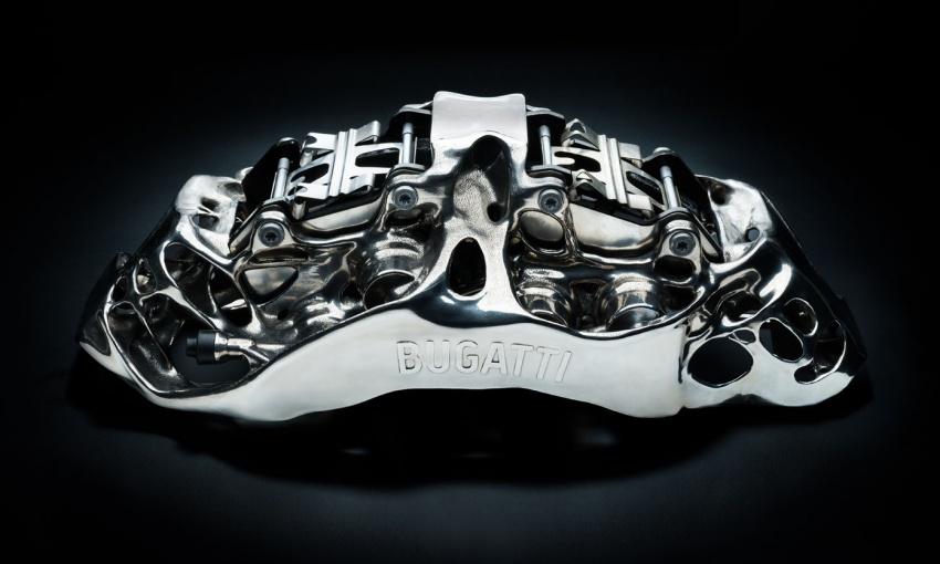 Bugatti trials 3D-printed titanium calipers for Chiron Image #769107