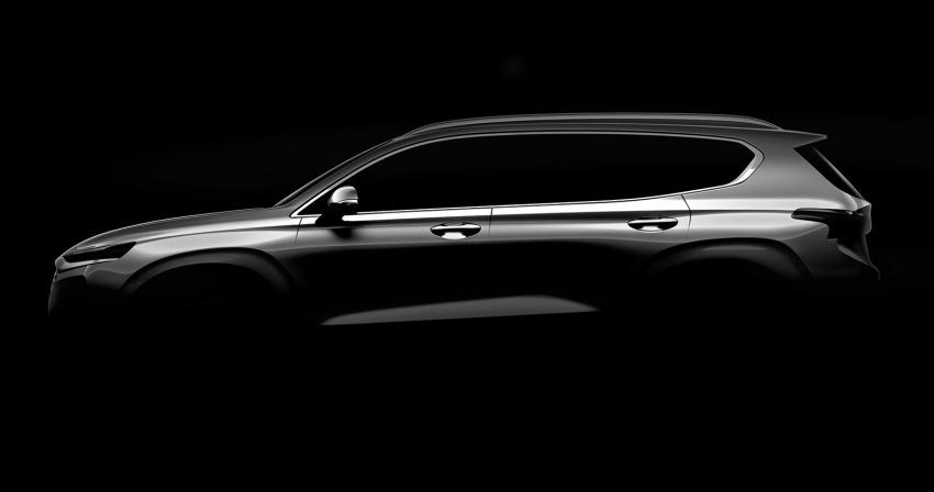 Hyundai teases fourth-gen Santa Fe SUV, Feb debut Image #770981
