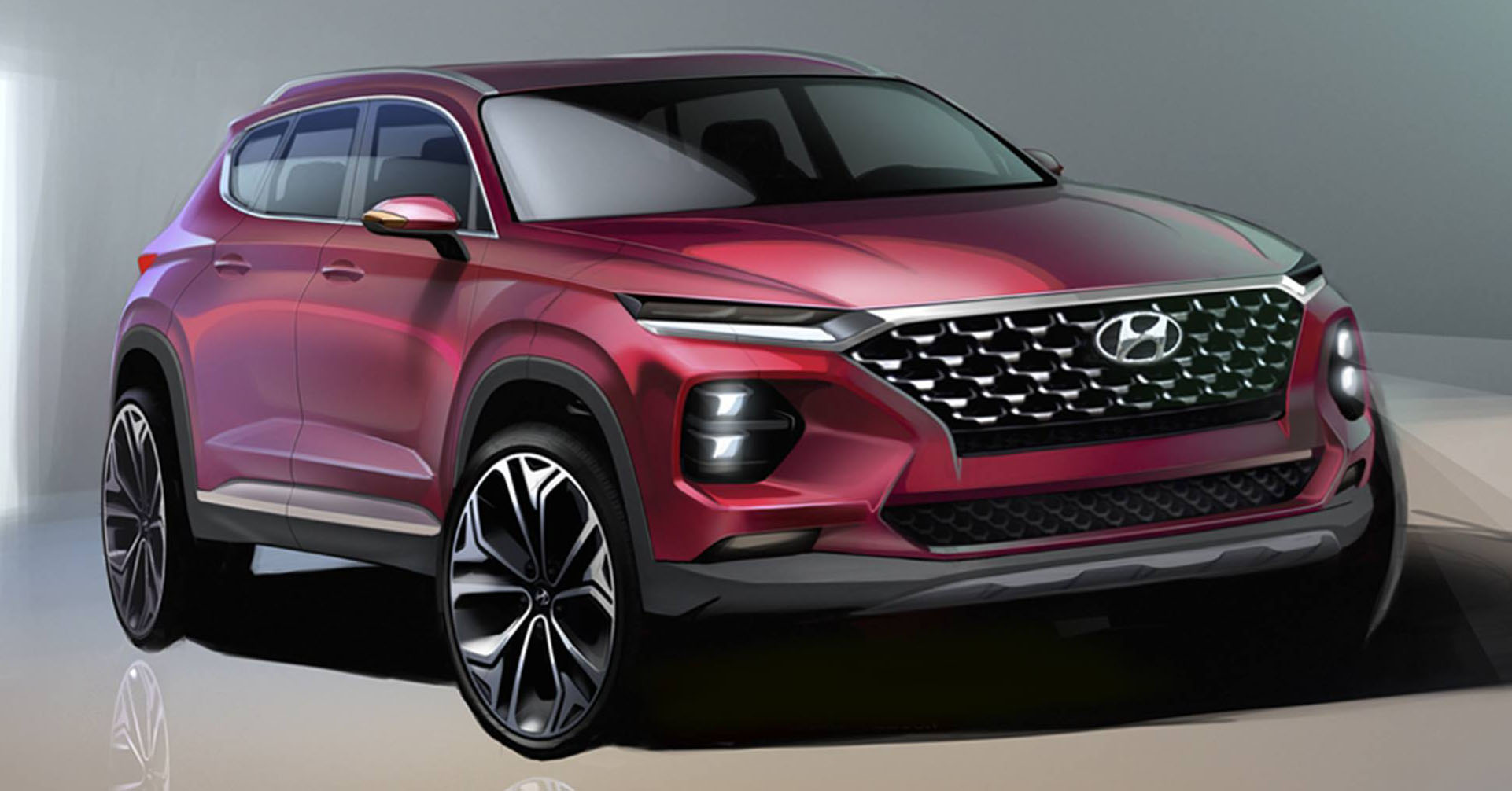 Santa Fe Suv >> Hyundai Santa Fe – renders of fourth-gen SUV shown Paul Tan - Image 773055