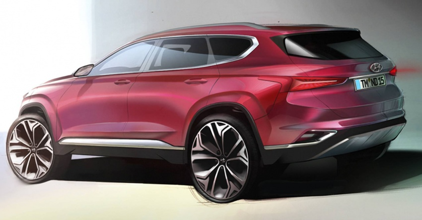 Hyundai Santa Fe – renders of fourth-gen SUV shown Image #773056