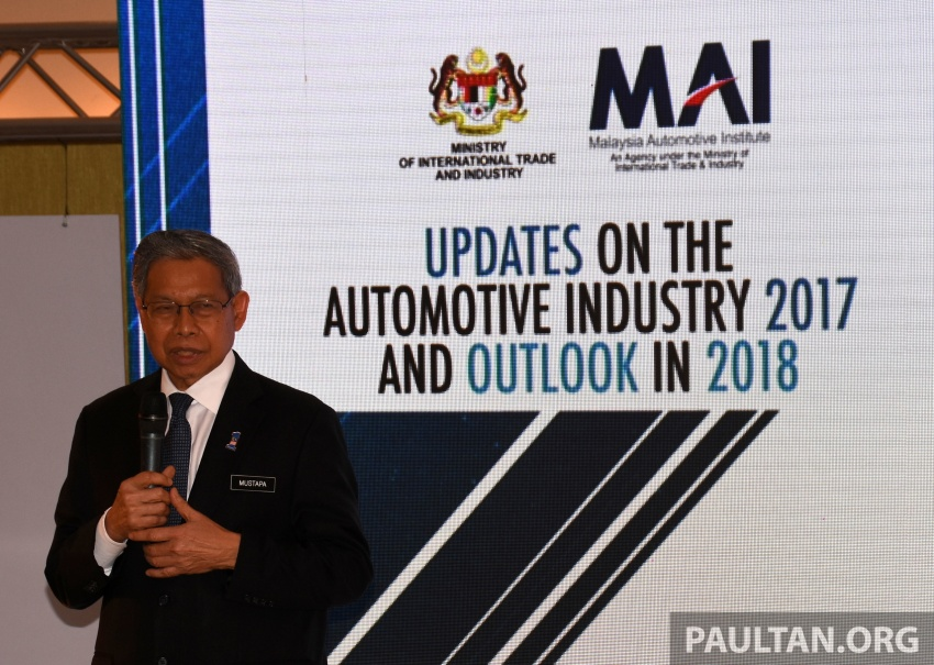Malaysian automotive industry showed 'continuous holistic growth' in 2017 – Mustapa Image #766489