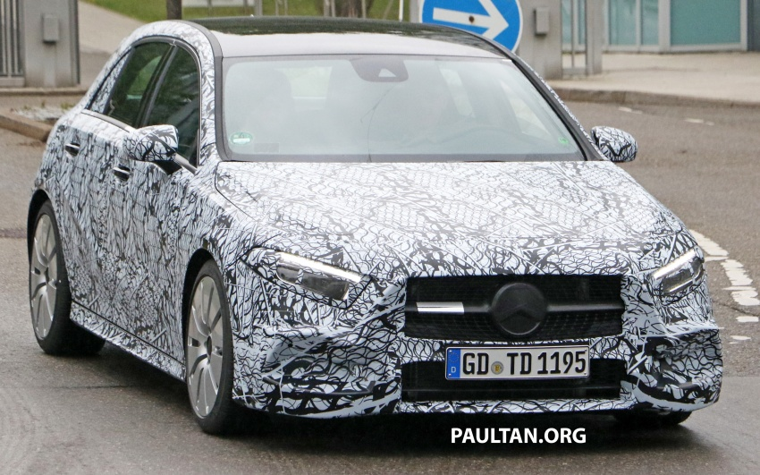 SPIED: 2018 Mercedes-AMG A35 – mid-range hot hatch Image #756518