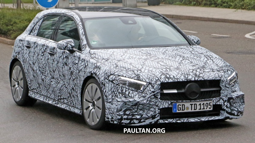 SPIED: 2018 Mercedes-AMG A35 – mid-range hot hatch Image #756520