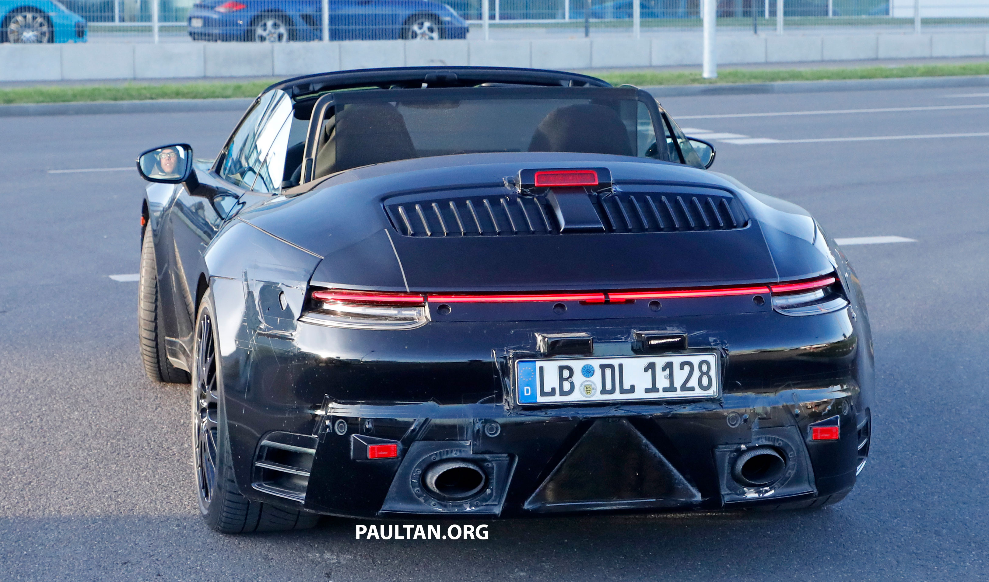 Spied 992 Porsche 911 Cabriolet Spotted Roof Down Paul