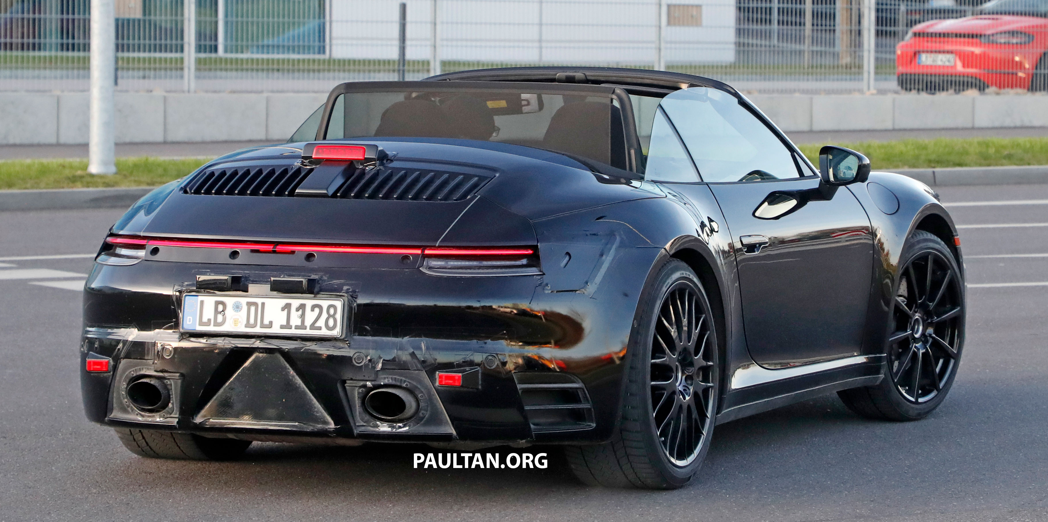Spied 992 Porsche 911 Cabriolet Spotted Roof Down