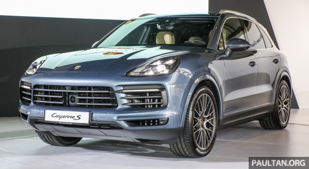 2018 porsche cayenne officially previewed in malaysia. Black Bedroom Furniture Sets. Home Design Ideas