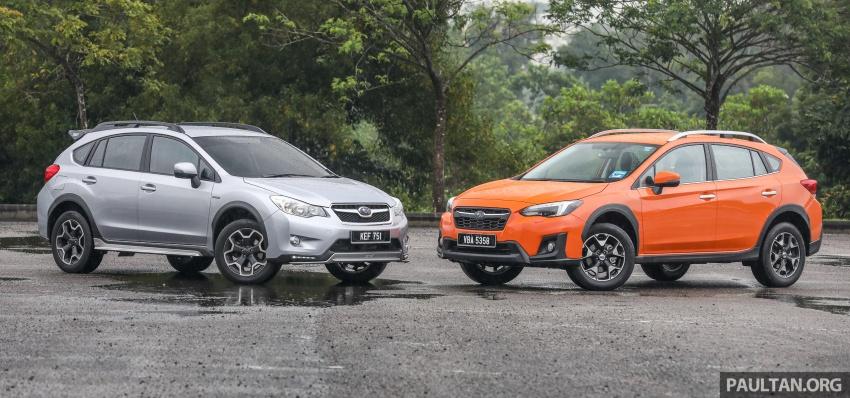 GALLERY: 2018 Subaru XV 2.0i-P vs old 2015 XV STI Image #772025