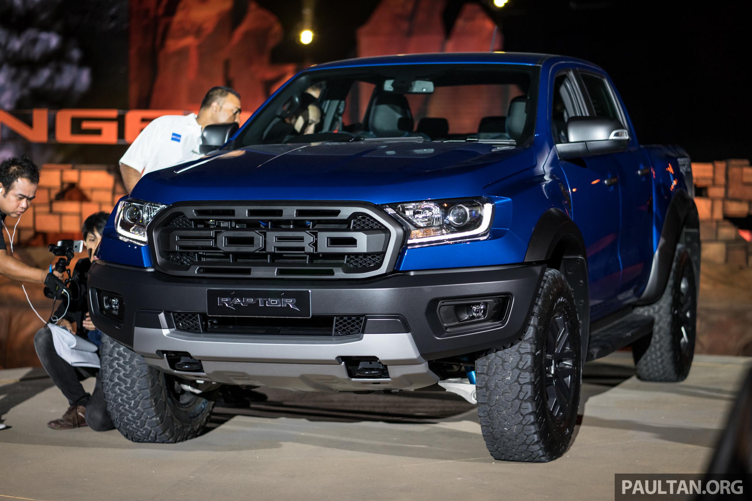 Ford Raptor 2018 >> Ford Ranger Raptor didedahkan di Thai – 2.0L diesel, 2 pengecas turbo, 213 PS/500 Nm, 10 ...