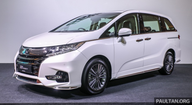 Honda Malaysia S First Model Launch Of 2018 Is The Facelifted Odyssey Which Offered In A Sole 2 4l Exv Variant Priced At Rm254 800 Otr Without