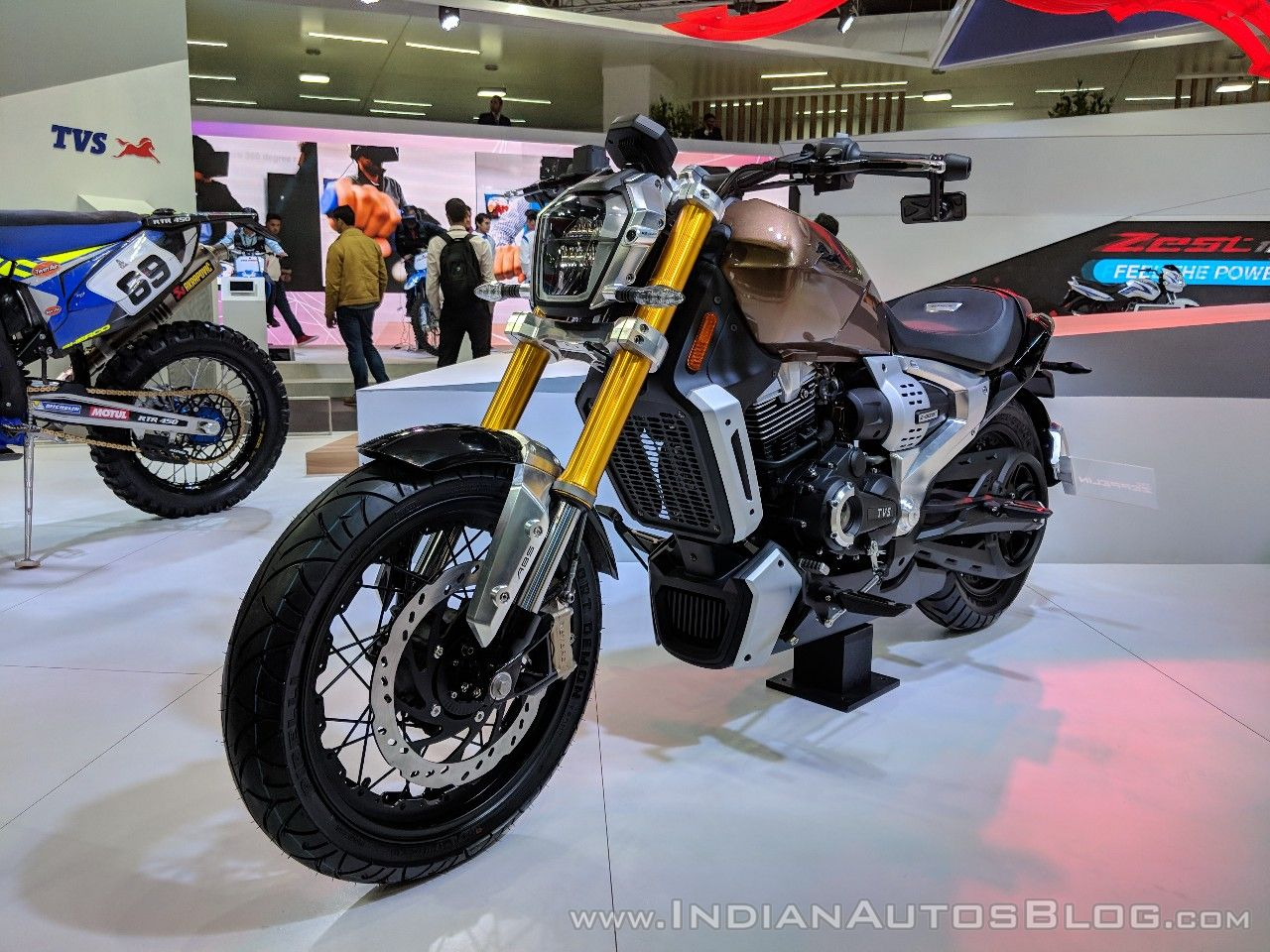 2018 TVS Zeppelin Cruiser Concept unveiled in India