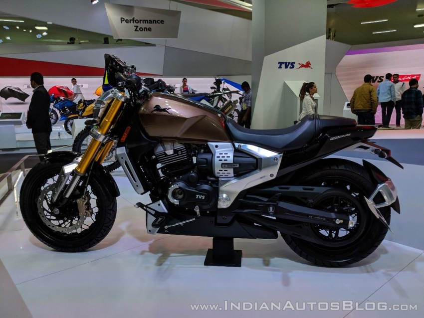 2018 TVS Zeppelin Cruiser Concept unveiled in India Image #777073