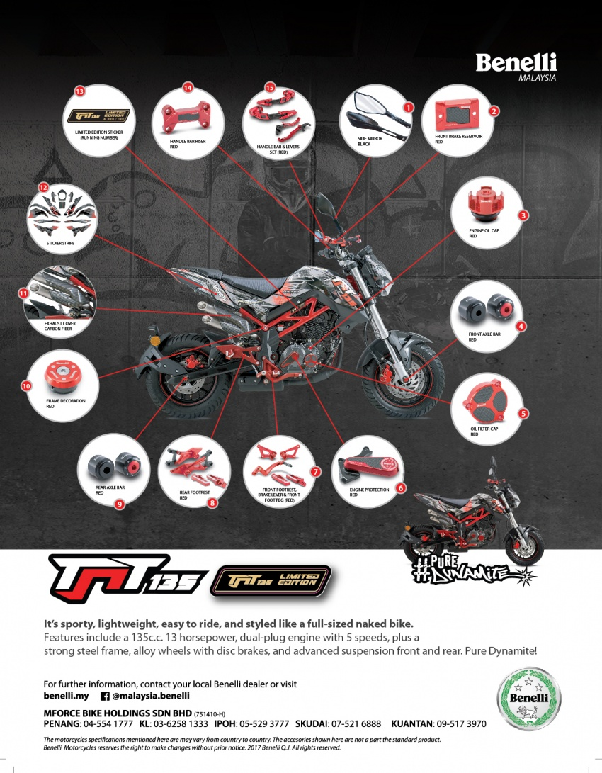 Benelli TNT 135 LE – terhad 1,000 unit, harga RM9,988 Image #778750