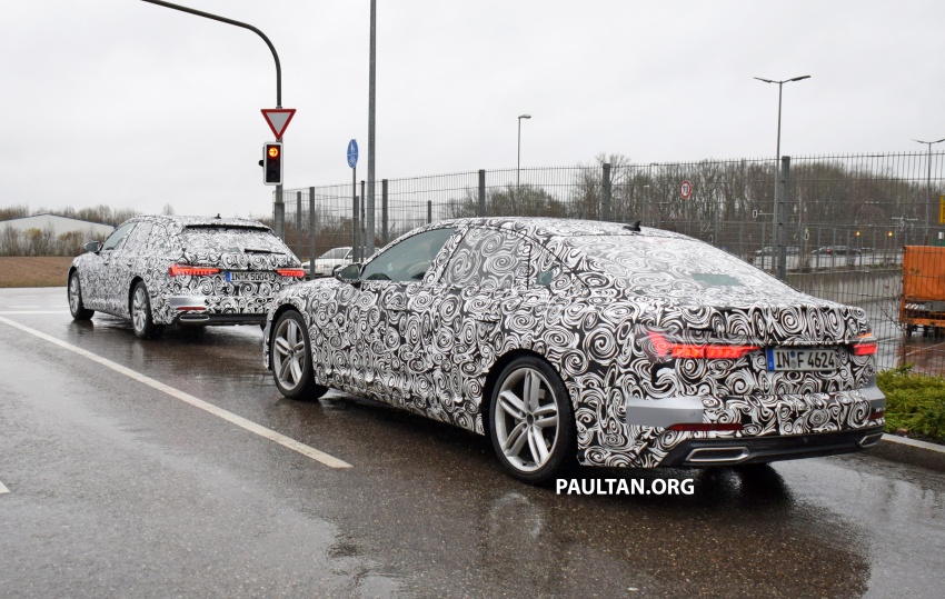 SPYSHOTS: C8 Audi A6 Avant seen with sedan sibling Image #774257