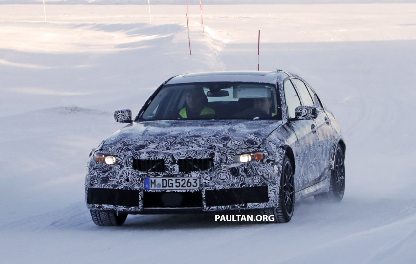 SPYSHOTS: G80 BMW M3 spotted testing in the cold Image #773987