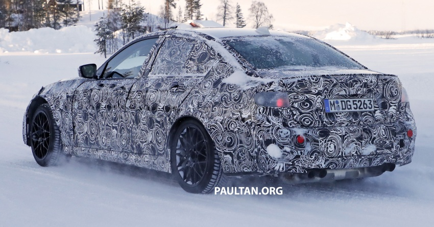 SPYSHOTS: G80 BMW M3 spotted testing in the cold Image #773999