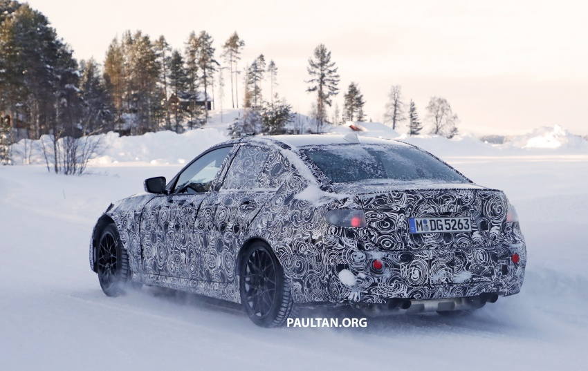 SPYSHOTS: G80 BMW M3 spotted testing in the cold Image #774000