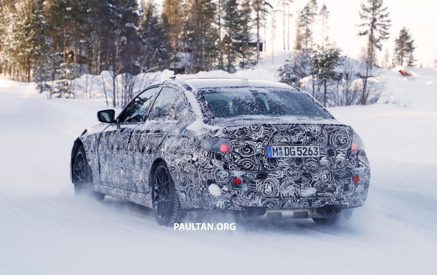SPYSHOTS: G80 BMW M3 spotted testing in the cold Image #774001