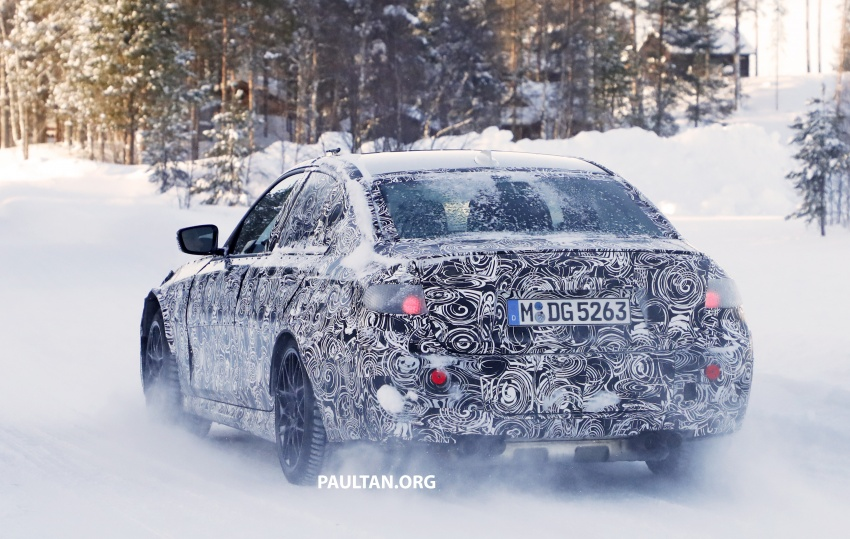 SPYSHOTS: G80 BMW M3 spotted testing in the cold Image #774002